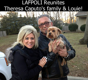 Theresa Caputo Reunites with Louie through Lost And Found Pets OF Long Island